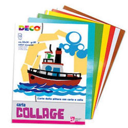 Immagine di Album carta collage 24X34 colori assortiti Deco