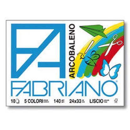 Immagine di Album Fabriano Arcobaleno liscio 24X33 140gr 5 colori