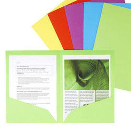 Immagine di Cartellina doppia tasca colori assortiti