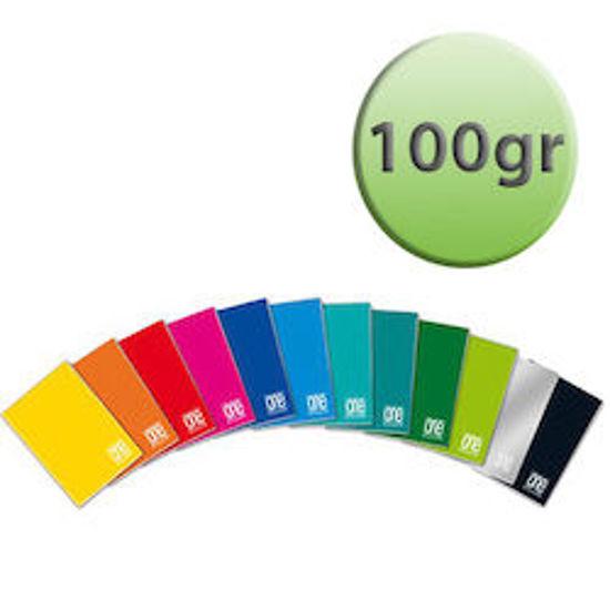 Immagine di Quaderno A4 One Color a quadretti 10mm con margine 100gr