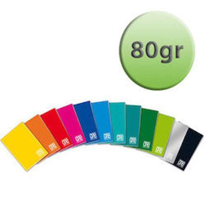 Immagine di Quaderno A4 One Color riga unica con margine 80gr