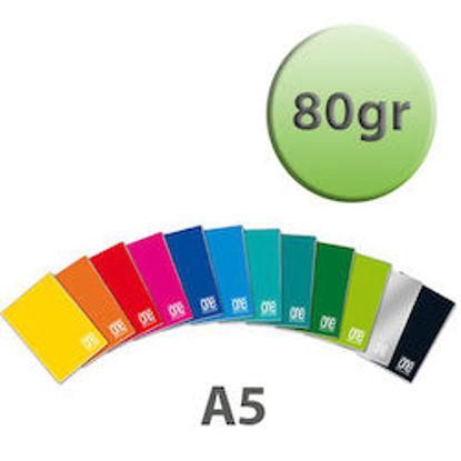 Immagine di Quaderno A5 One Color a quadretti 5mm con margine 80gr