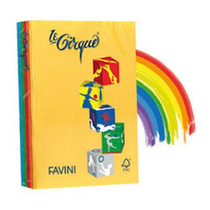 Immagine di Risma 500 fg carta Le Cirque Favini A4 80gr 5 colori forti